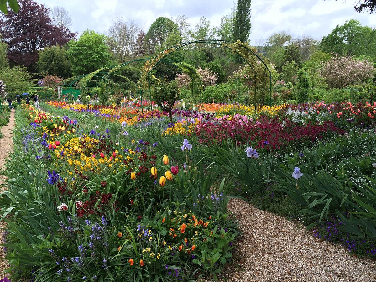 I Monets trädgård, Giverny