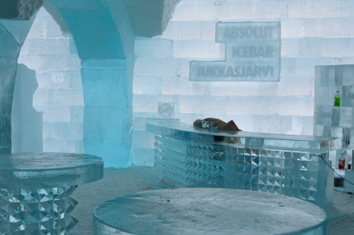 Absolut Ice Bar på Ishotellet i Jukkasjarvi
